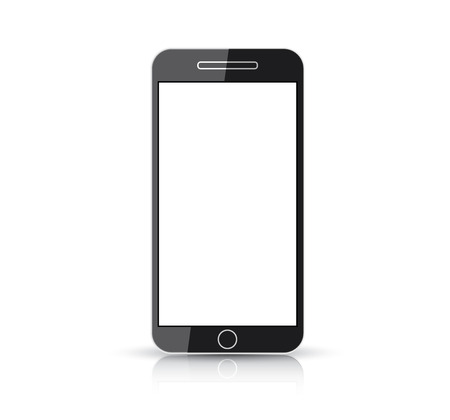 Flat and simplistic black creative smart phone vector  Illustration