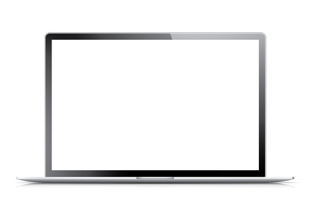 Isolated modern laptop with empty screen  Vector eps10 illustration  Vector