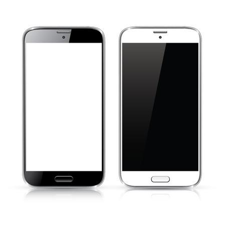 Perfect gedetailleerde vector van de moderne nieuwe smartphone geïsoleerd op wit Stockfoto - 26897168