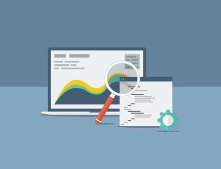 フラット検索エンジン最適化設計概念ベクトル図