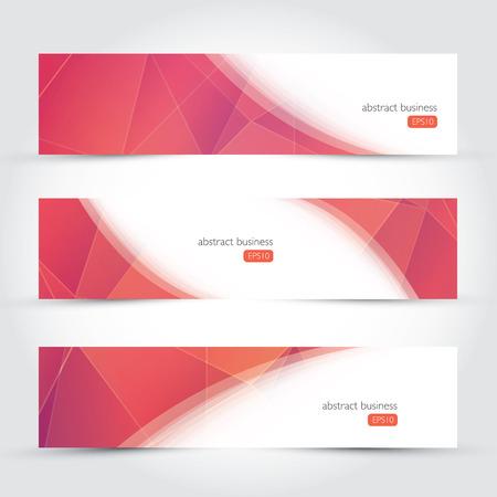 3 つの幾何学的設計ベクトル ビジネス バナー  イラスト・ベクター素材