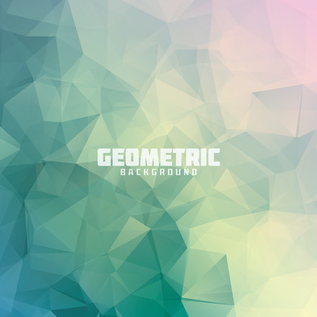 Geometric triangle pastel colored Illustration