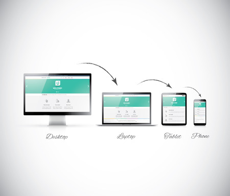 web hosting: Responsive web design development in modern electronic devices
