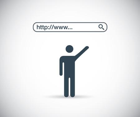 검색 엔진의 간단한 평면 개념을 인터넷에서 검색