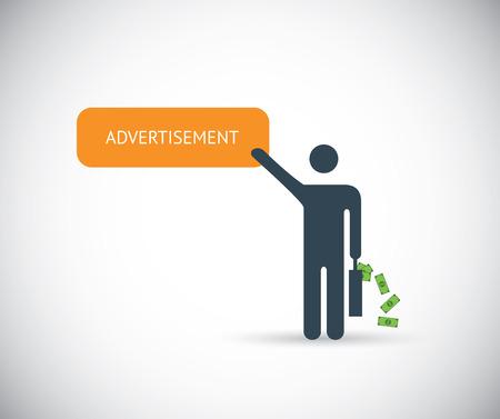 Pay per click affiliate marketing advertisement internet vector concept Vector