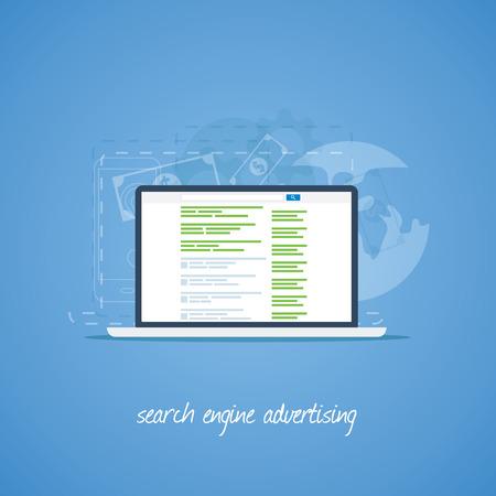 検索エンジン マーケティングと広告のベクトルの概念