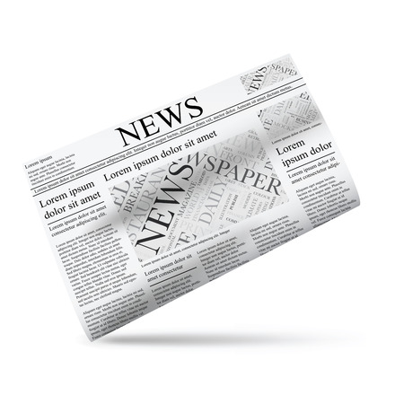 Newspaper vector illustration icon template Vector