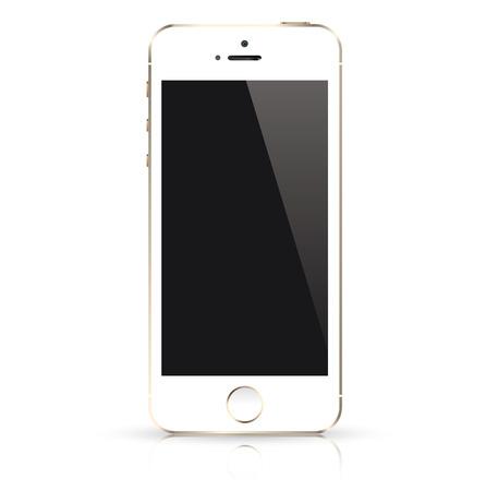 現代の白携帯電話分離ベクトル イラスト