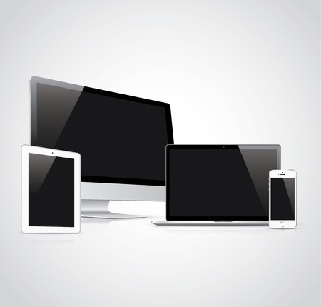 Electronic devices vector illustration  Illustration