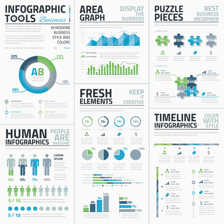 Big set of awesome infographic vector elements for business Vector
