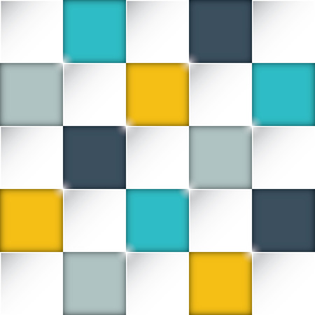 Seamless rectangle boxes background with awesome flat colors Stock Vector - 29126962