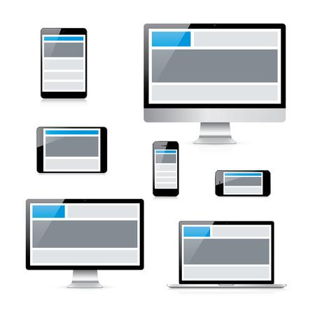 レスポンシブ web デザイン グリッドと近代的な孤立した電子機器