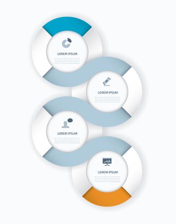 Timeline vector infographics element Stock Vector - 29304930