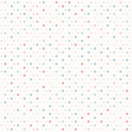 Polka dots colorful vector illustration seamless texture background Stock Vector - 29304933