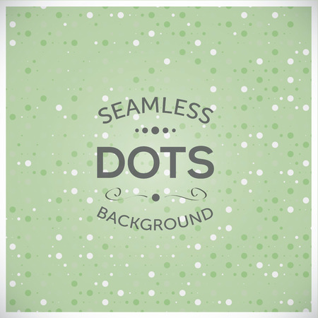 Dotted seamless green vector illustration background Stock Vector - 29304934