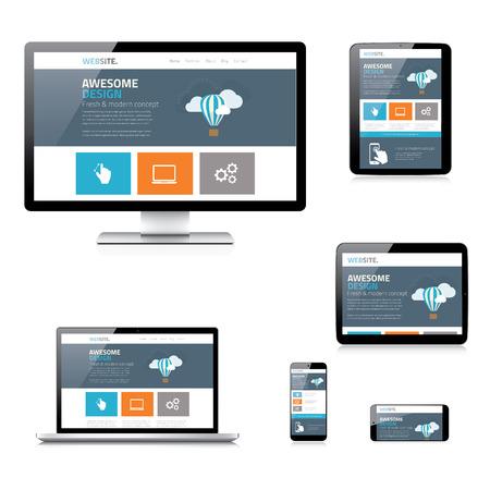 Modern flat responsive web design illustration isolated Stock Vector - 29493261