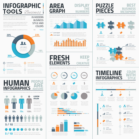 Large collection of infographic vector templates Illusztráció