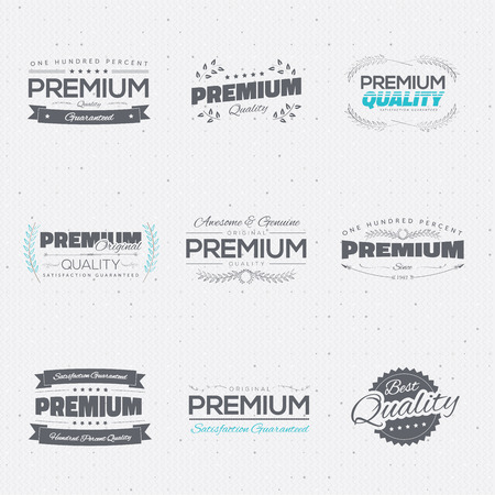 Vintage premium quality stickers and elements vector collection Stock Vector - 29949661