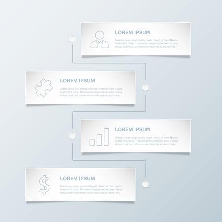 ビジネスのアイコンとタイムライン インフォ グラフィック ベクトル テンプレート  イラスト・ベクター素材