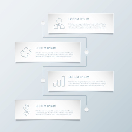 Timeline infographic vector template with business icons Stock Vector - 29952530