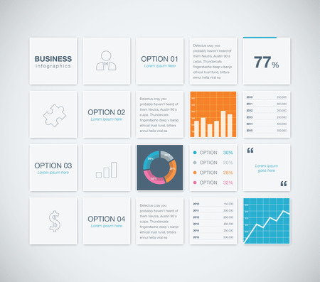Modern infographic business vector template background boxes Stock Vector - 30181855
