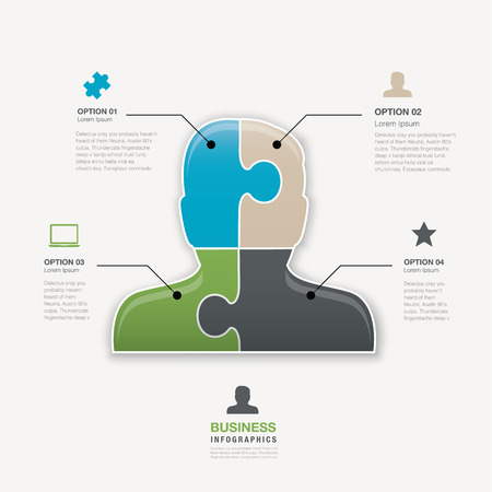 Head jigsaw puzzle piece business man vector connection concept Vector