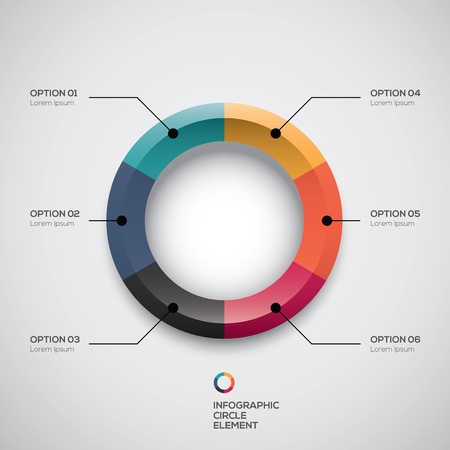 Infographic ui styled business pie chart and options