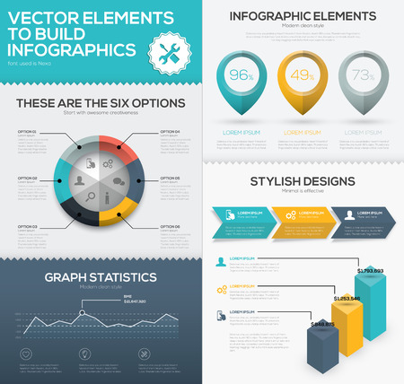 Vector infographic chart elements to business data visualization Illustration