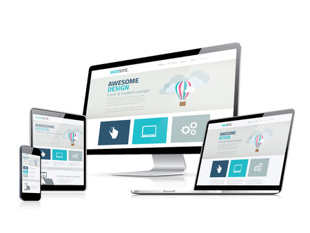 web development: Awesome responsive web design development side displays