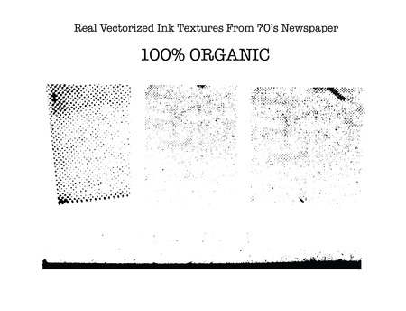 Real vectorized black traced ink textures from 70\\\\
