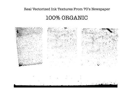 Echte vectorized zwarte getekende inktstructuren van 70 \ Stock Illustratie