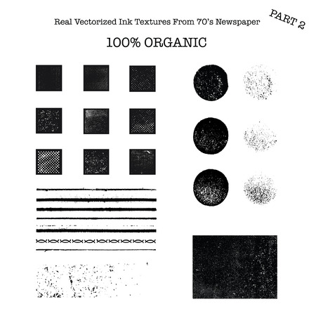 Real vectorized black traced ink textures from 70\\ Ilustrace