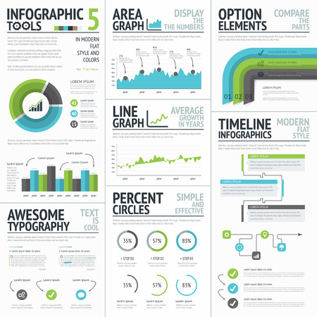 Infographic tools and elements to create vector infographics Illustration