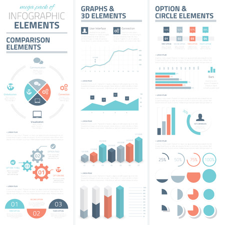 statistics: Infographic business vector elements collection Illustration