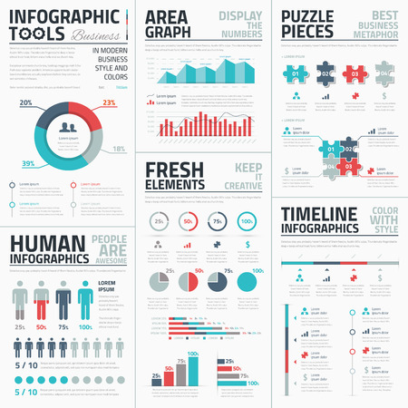 Business infographic elements illustration