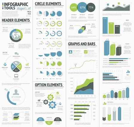 cobranza: Gráficos de información para visualizar la infografía de datos corporativos