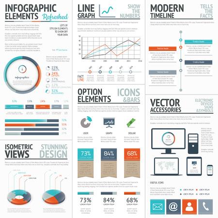 인포 그래픽 비즈니스 및 기업 분석 벡터 요소
