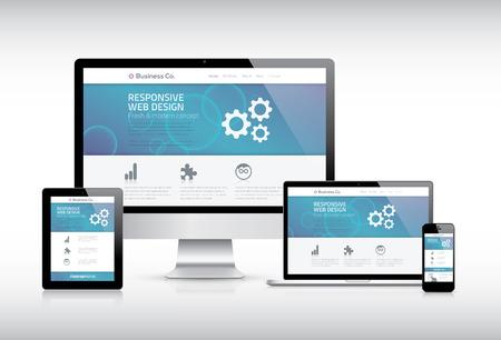 レスポンシブ Web デザイン  イラスト・ベクター素材