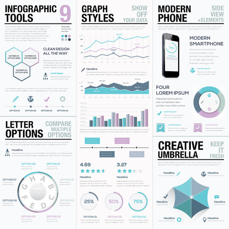 Purple infographics. Business elements, bars and graphs.