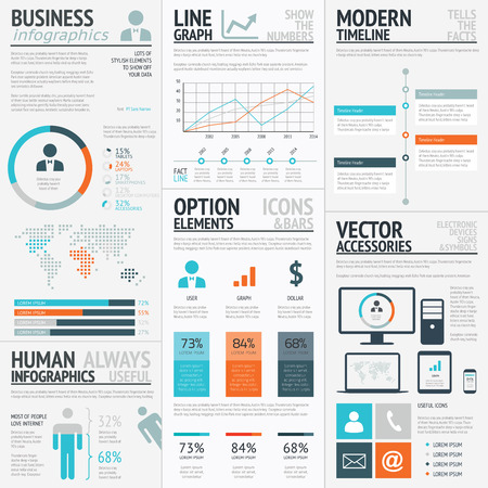 Business graphics data visualization vector element infographics Ilustração