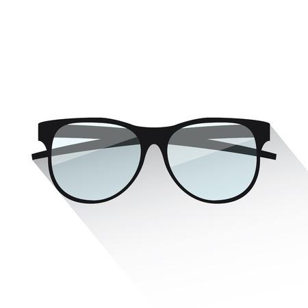 Flat eyeglasses vector illustration isolated on white Vector