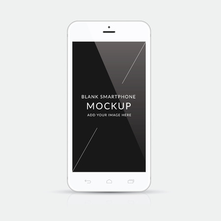 isolation: White modern smartphone mockup vector illustration isolation