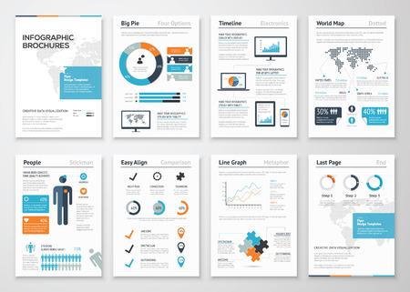 the brochure: Elementos del folleto de Infograf�a de visualizaci�n de datos de negocios