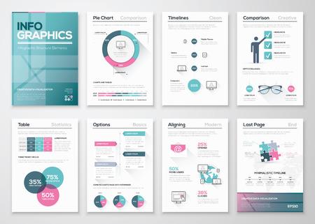 モダンなインフォ グラフィック ベクトル概念。ビジネス グラフィックのパンフレット。