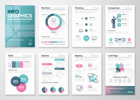statistics: Modern infographic vector concept. Business graphics brochures.