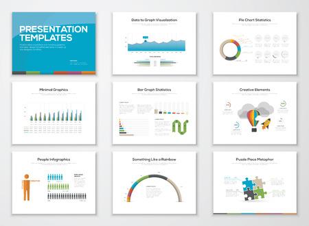 Presentatie slide templates en zakelijke vector brochures
