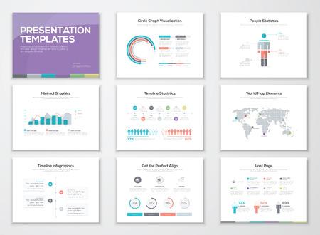 Infographic presentatiesjablonen en zakelijke brochures