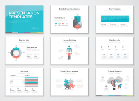 graphic presentation: Infographics presentation templates and business brochures