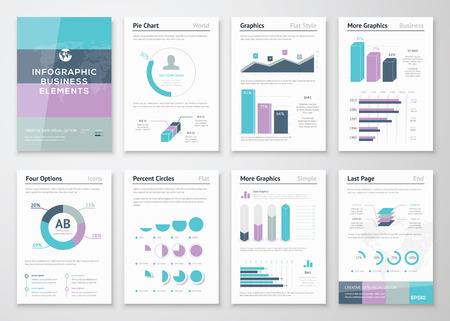 ビジネス、ベクター グラフィックス現代創造的なインフォ グラフィック  イラスト・ベクター素材