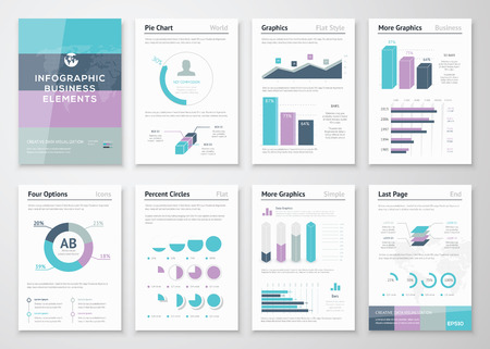 Business vector graphics for modern creative infographics Vector